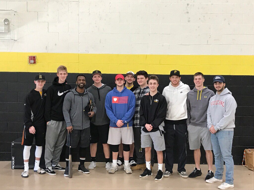 Last week, Major League standout Andrew McCutchen took batting practice with the Varsity Baseball Team.