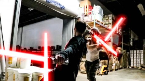 Lightsaber Battle of the Dorks