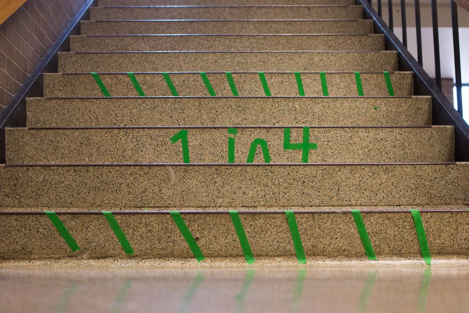 Every green stair that SADD displayed showed a person fighting, but it also showed a person we can  help, in a way big or small.