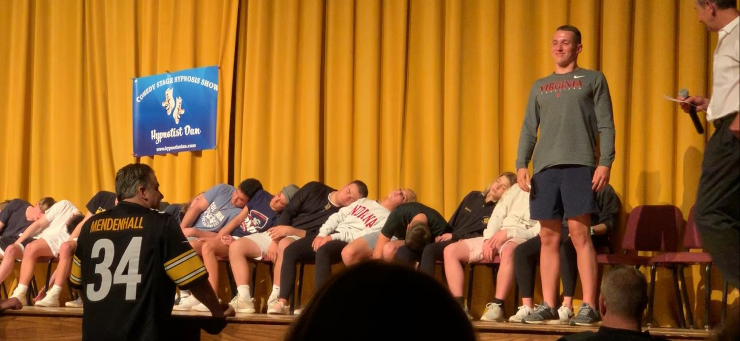 Jack Wright is the only one awake during a segment of the group hypnosis that brought Post-Prom to an end.