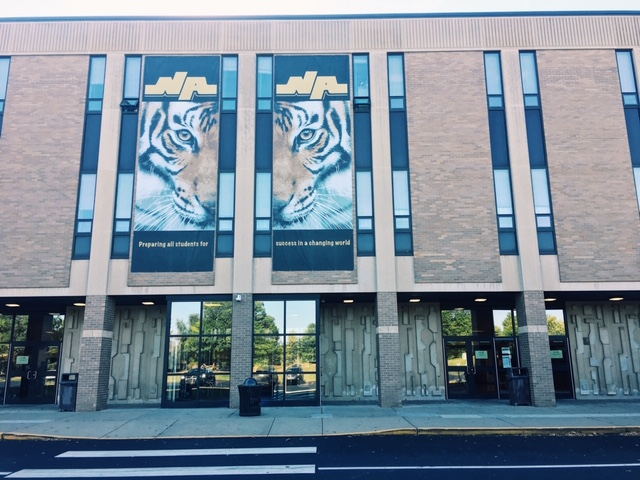 The glass at the first-floor entrance to NASH may offer welcome natural light, but it also poses a safety risk that has led the district administration to agree to an upcoming renovation.