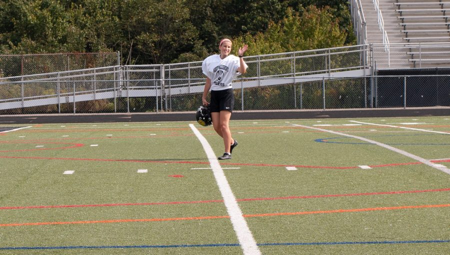 Hayleymae Graf made NA history earlier this season as the first female football player to score a varsity point.