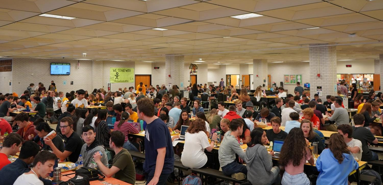 The 7th period lunch is now up to 525 students, by far the busiest lunch period of the three.