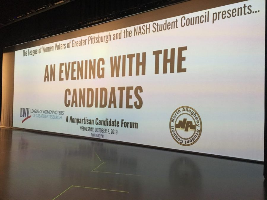Last Wednesday, NASH Student Council hosted a public debate featuring six candidates for School Board.  The event, which took place in the high school auditorium,