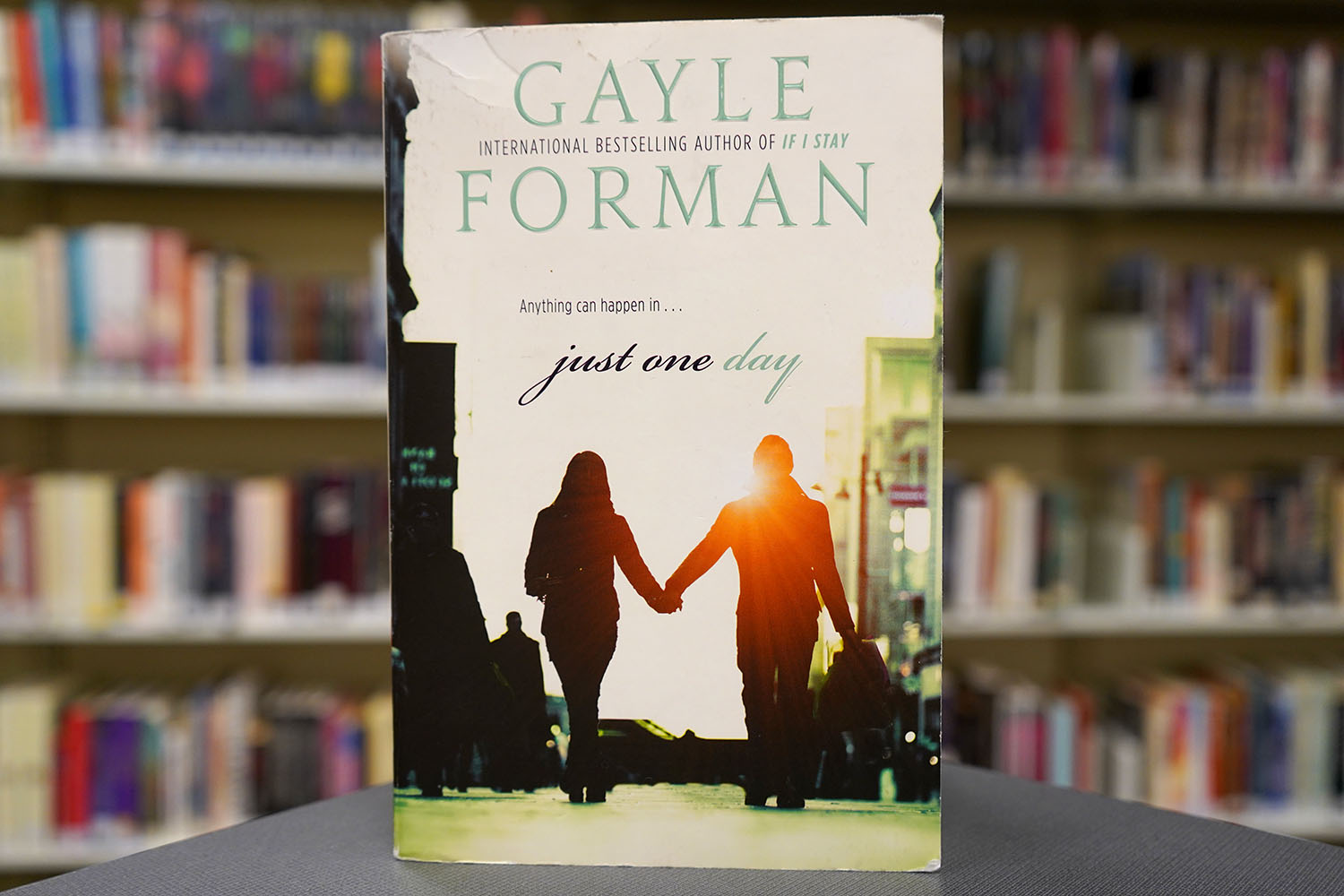 The front of Just One Day shows exactly why you shouldn't judge a book by its cover.