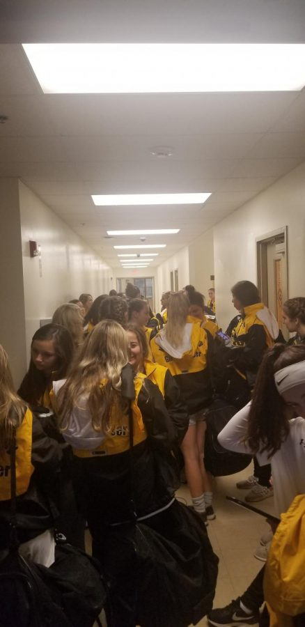 Late+Thursday+afternoon%2C+the+Girls%27+Soccer+Team+waits+to+get+on+the+bus+in+the+hallway+of+the+Baierl+Center.+++Despite+chilly+temperatures+and+rain+throughout+the+day%2C+the+NA+vs.+Norwin+WPIAL+Championship+match+would+not+be+postponed.