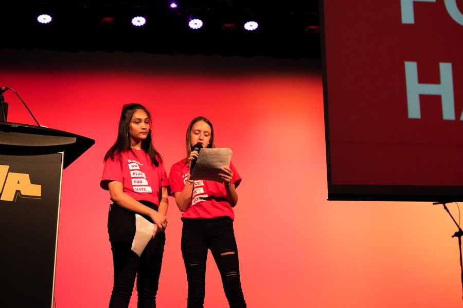 Students often learn of hate crimes through class discussions and news feeds.  Yesterday's No Place for Hate assembly brought the topic to a personal level.