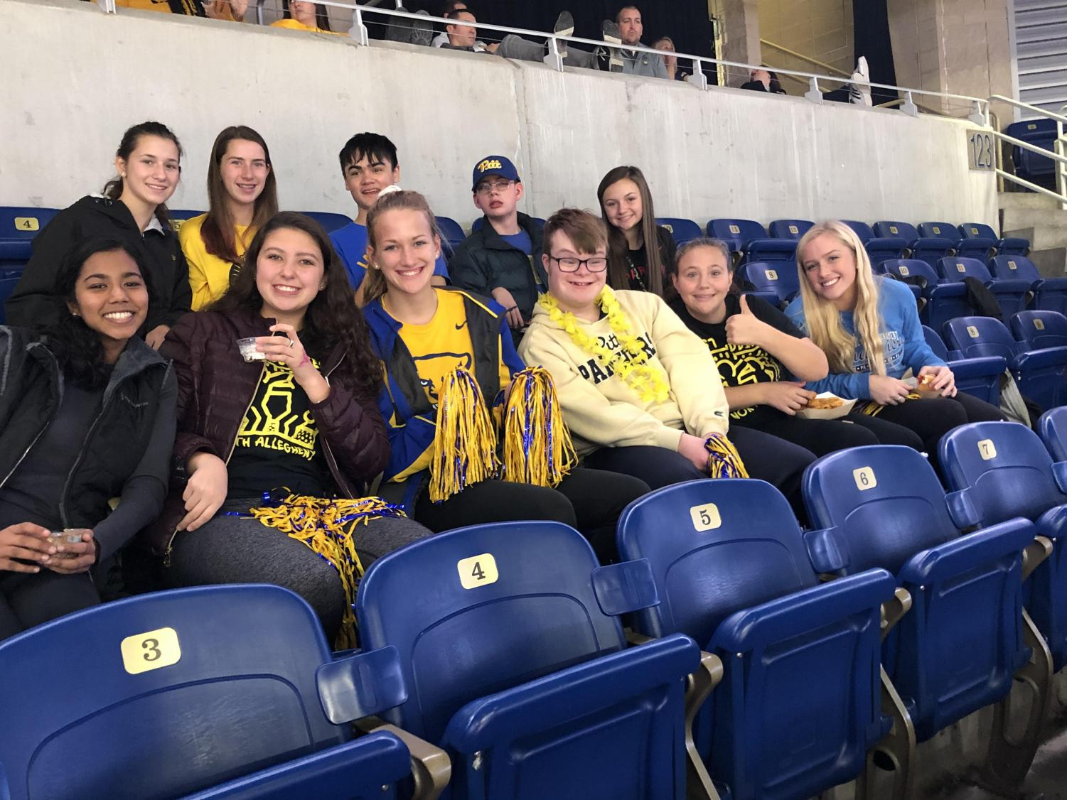 The NASH Best Buddies group attended the Pitt Women's Basketball game in November, and their calendar holds many more adventures this year.