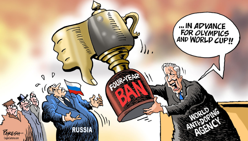 Over various doping allegations, Russia has been banned from competing in major upcoming sporting events for the next four years.