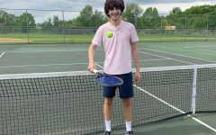 NA's top singles tennis player, Chase Davidson, has found unique ways to practice the sport in quarantine.