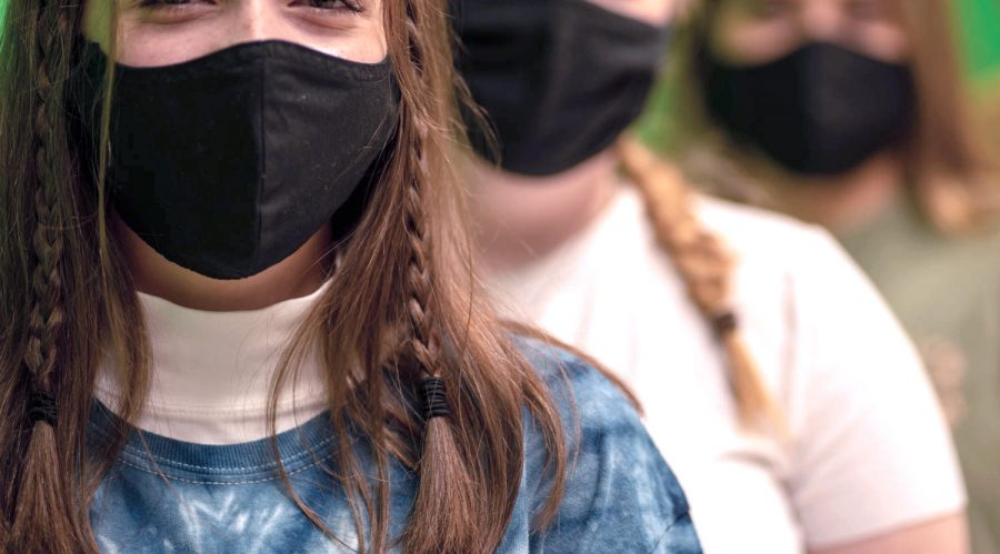 Students around NASH are making the best of the mask mandate by taking the opportunity to express their style.