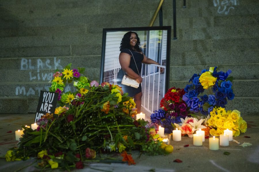 Breonna Taylor's death last March sparked protests and memorials that continue across the country.
