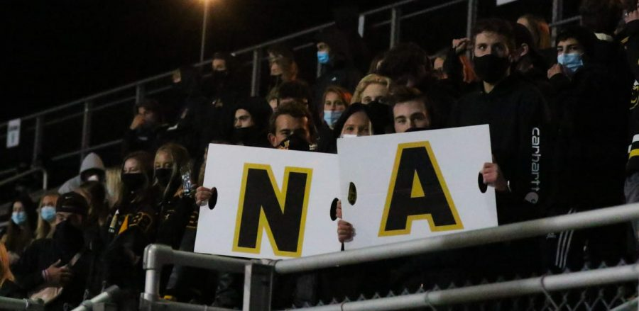 The North Allegheny Student Section was finally able to show their school spirit at last week's football game.