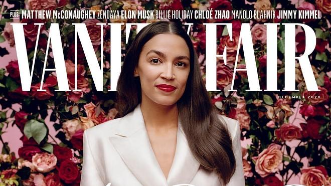 Congresswoman Alexandria Ocasio-Cortez graces the cover of Vanity Fair's December issue.