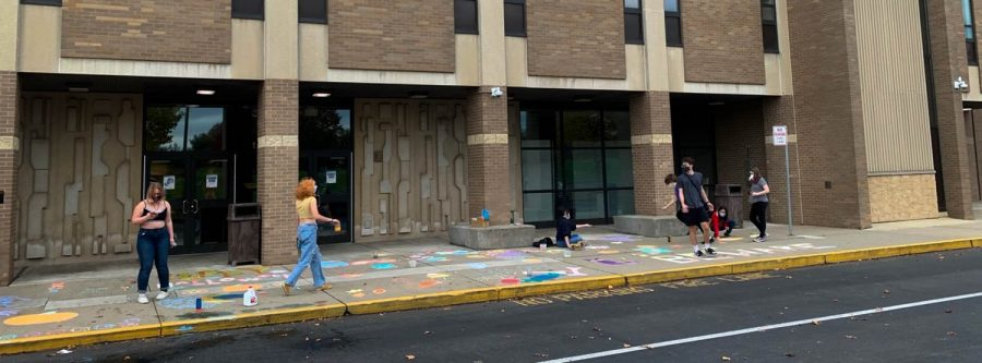 Members of the National Arts Honor Society channeled their creativity and Halloween spirit last week to decorate the front entrance.