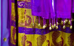 Traditional Indian clothing holds symbolism within the colors and patterns.