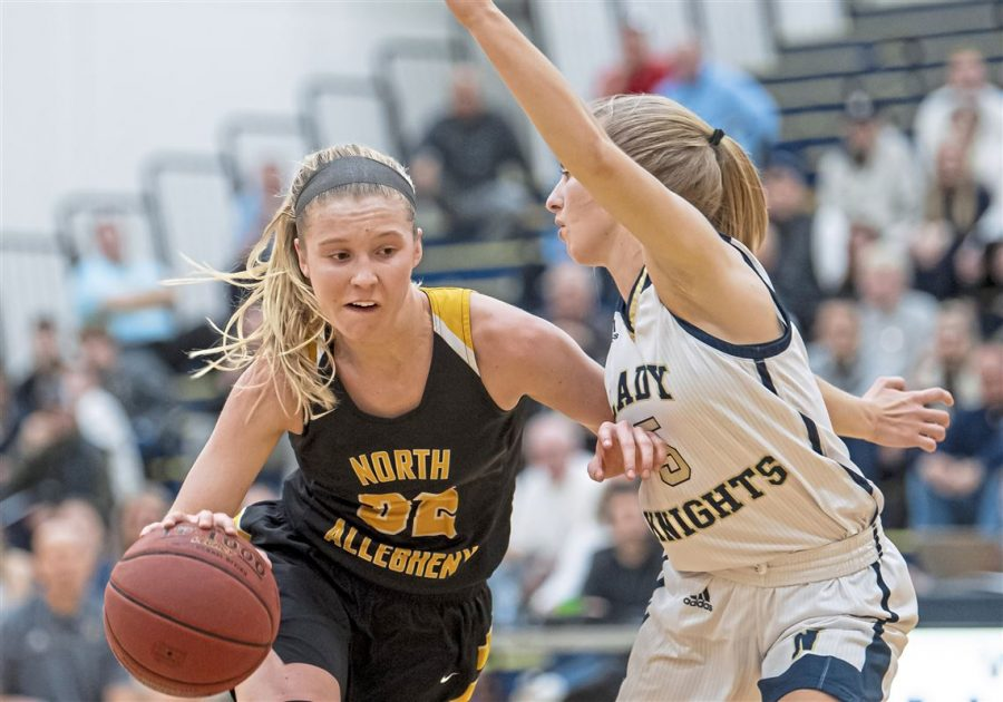 NA senior Lizzy Groetsch has been a dominant force on the basketball court since she first started playing in middle school.
