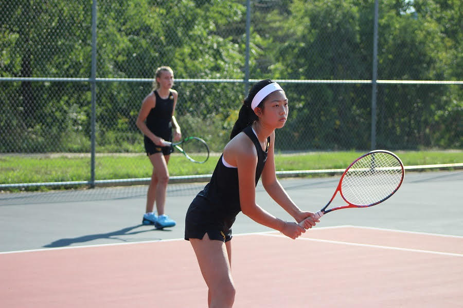 Claire Shao and Abbey Swirsding emerged as the top doubles team for the Girls' Tennis Team this fall.
