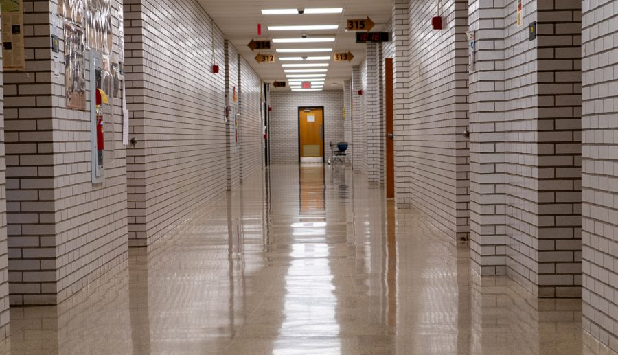 The NASH hallways are empty, but most other public areas are packed with people.