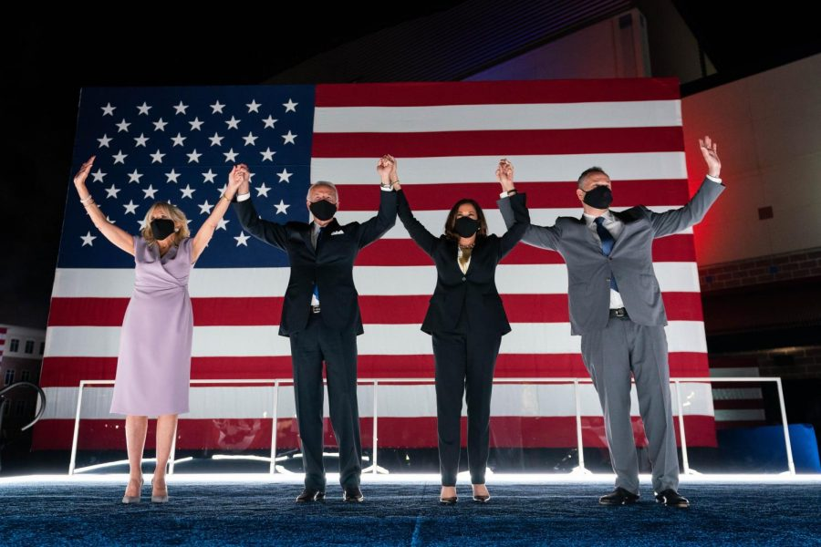 The+First+and+Second+Families+celebrate+Biden%27s+nomination+at+the+2020+Democratic+National+Convention.