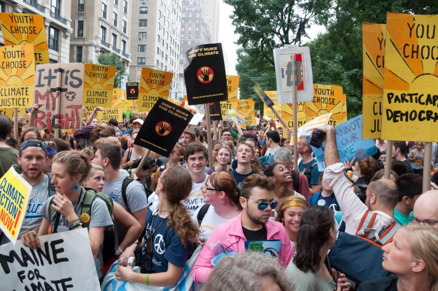 Protestors demonstrate for climate protections