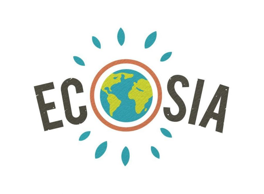 The logo for Ecosia, the world