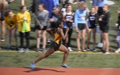 Akindele at the WPIAL Team Championship on May 6, 2019