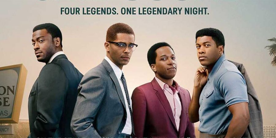 From left to right: Jim Brown (Aldis Hodge), Malcolm X (Kingsley Ben-Adir), Sam Cooke (Leslie Odom Jr.), Muhammad Ali (Eli Goree)