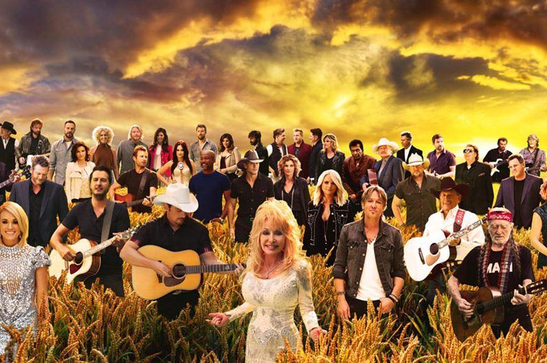 "CMA stars gather to make the iconic ""Forever Country"" video."