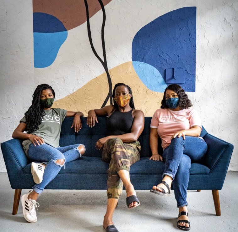 Grant Blvd is a Black woman owned brand that sells reprinted tees and upcycled clothes.