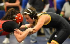 Taylor Stover during an intense match