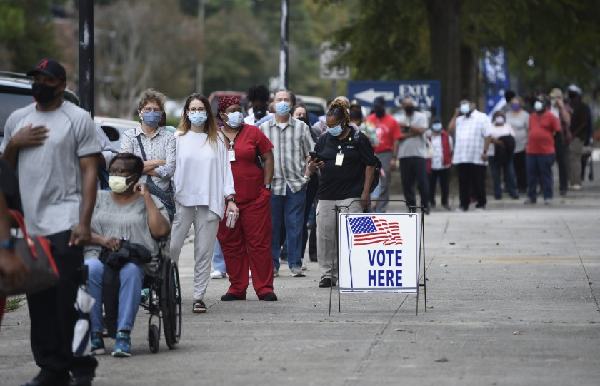 Georgia's new laws aim to shorten voting lines, among other changes.