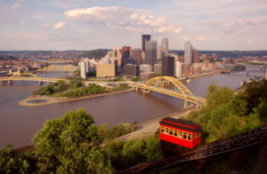 An amazing view of the beautiful city of Pittsburgh from the top of Mount Washington.