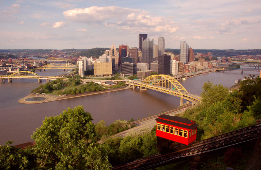 An+amazing+view+of+the+beautiful+city+of+Pittsburgh+from+the+top+of+Mount+Washington.+