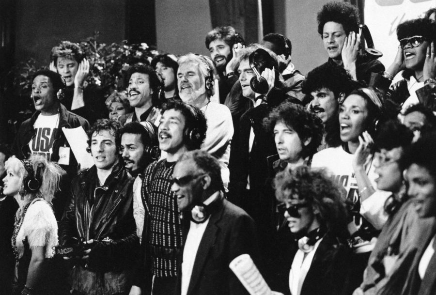 Celebrities of all races and ethnicities united to create one of most famous and uplifting songs in history.