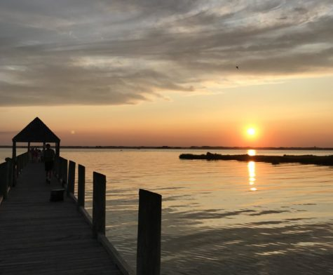 Beautiful sunsets can be seen daily at local piers in Presque Isle Park.