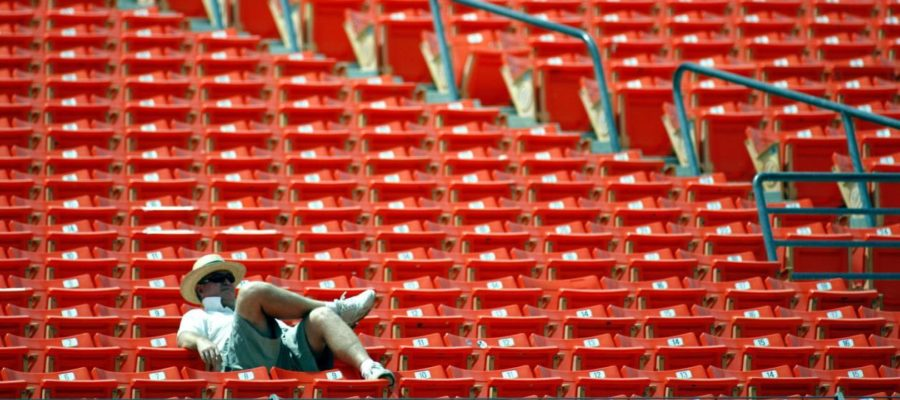 Empty+seats+are+becoming+all+too+common+during+MLB+games.