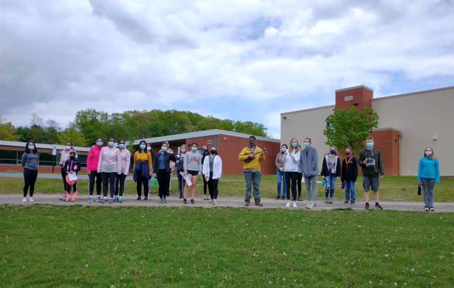 Members of the NA Interact Club participated in a hike for polio on the NAI campus.