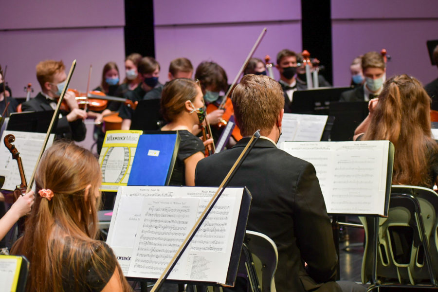 The NASH Orchestra rehearses for a Night at Newman.