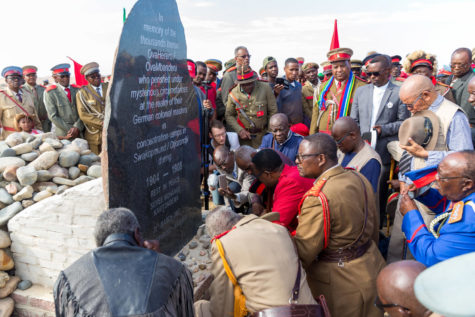 A reparation walk that took place in Namibia in 2019