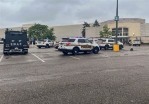 Police cars and SWAT trucks filled into the parking lot at Ross Park Mall following a scary afternoon for shoppers.