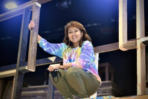 Ahlam Weidman, the parent coordinator for the NA Musicals, is an ever-present face during show season.