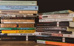 A stack of various classic literature books to depict the humanities resources provided to students but not utilized.