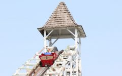 The cupola on the lift hill of Lakemont Parks Leap the Dips evokes an earlier time.
